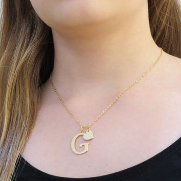 Initial Necklace personalized  gold initial charm Personalized Necklace Bridesmaids Gift for her girlfriend gift for woman gift for mom