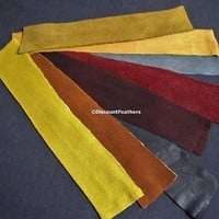 Pre Cut Suede Leather Strips Variety Pack - 8 Pieces