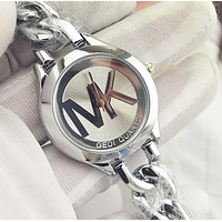 """Michael Kors"" MK Trending Women Men Stylish Letter Quartz Watch Movement Wrist Watch Silvery I-YF-GZYFBY"