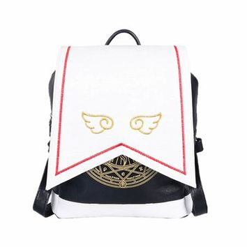 Japanese Anime Bag  Card Captor CardCaptor Sakura Uniform Randoseru Backpack Mochila Cute Magical Girl Clow Card School Bags for Teenager Girl AT_59_4