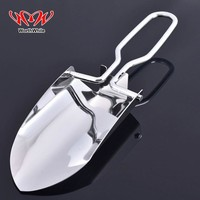 WorthWhile Mini Foldable  Stainless Steel Shovel Outdoor Camping Gardening Survival Safety Porket Kits Multi Tools