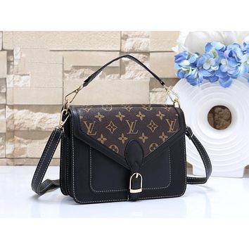 LV Louis Vuitton New Fashion Women Shopping Leather Handbag Tote Crossbody Satchel Shoulder Bag Black