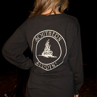 Southern Sippin': Campfire Shirt: Black