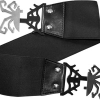 Black Spiderweb | ELASTIC WAIST BELT