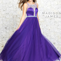 Madison James Satin Top Teen Prom Gown 15-158