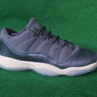 "[Free Shipping]Air Jordan 11 Low GG ""Blue Moon"" Basketball Sneaker"