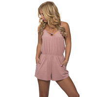 Down To Earth Romper In Pink