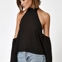 LA Hearts High Neck Off-The-Shoulder Top at PacSun.com