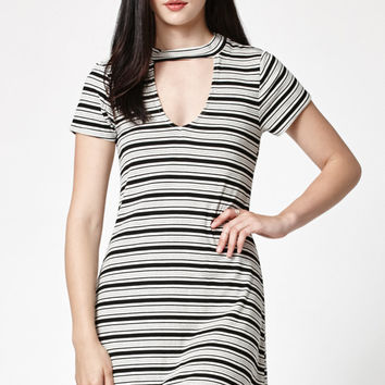 LA Hearts Choker Stripe Ribbed Dress at PacSun.com