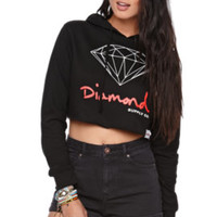 Diamond Supply Co Diamond Cropped Fleece Hoodie at PacSun.com