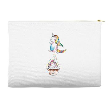 Cute Unicorn and Happy Cupcake Accessory Pouches