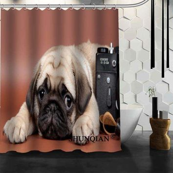 puppy dog Shower Curtain High Quality Bath screens Modern Polyester Fabric Customized bath curtain