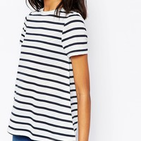 ASOS Swing T-Shirt In Stripe at asos.com