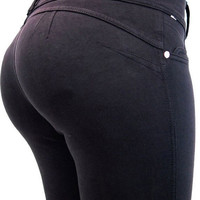 Sensual Curves Compression Push Up Black Colombian Pants