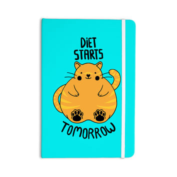 "Tobe Fonseca ""Diet Starts Tomorrow"" Blue Cat Everything Notebook"