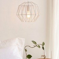 Mindy Caged Diamond Pendant Light | Urban Outfitters