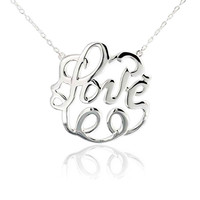 Bling Jewelry Love Script Pendant