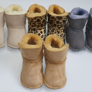 Girls  winter boots With Fur Soft Soled