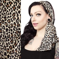 Sourpuss 'Bad Girl' Scarf - Leopard | Complete Your Vintage Look