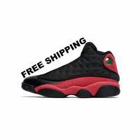 "[FREE SHIPPING] Air Jordan 13 Retro ""Bred"" [414571-004]  Basketball Sneaker  AJ13"
