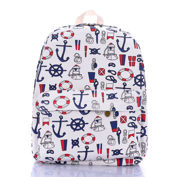 Sea Navy Casual Army Style Backpack = 4887427908