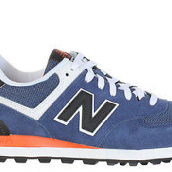 New Balance Mens 574 Sneakers Blue Black Orange ML574MOY