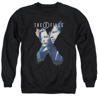 X Files X Agents Black Crewneck Sweatshirt