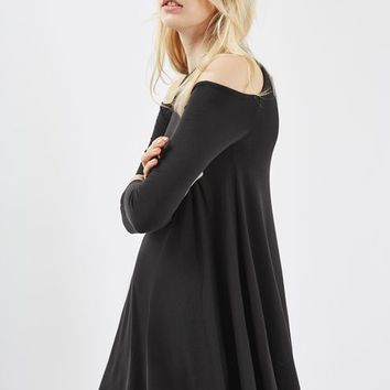 PETITE Cold Shoulder Swing Dress