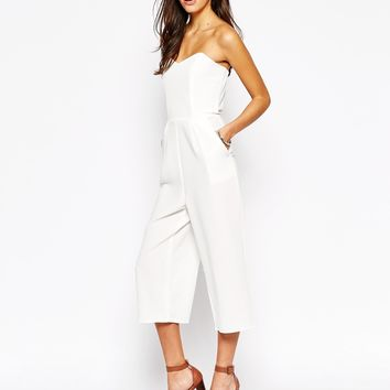New Look Culotte Bandeau Jumpsuit