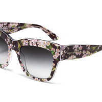 Women's flowers and black acetate glasses with oversize frame by Dolce & Gabbana almond flowers dg4231
