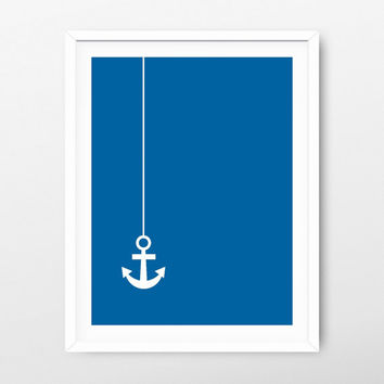 Printable Art Navy Anchor - Minimalist Print - Printable Poster - Minimalist Art - Nursery Decor - Nursery Print - Nursery Art