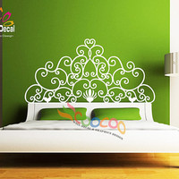 Wall Decal Sticker Removable Headboard DC053 Full Size, Queen Size, Twin Size