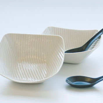 white porcelain bowl (small). ceramic serving tableware. I Walk the Line Collection. Designed and crafted by Wapa Studio.