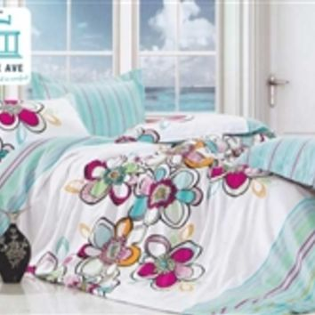 Twin XL Comforter Set - College Ave Dorm Bedding Cotton XL Twin Bedding Sets Sham Colorful Girls Pretty Bed Sets Comforters