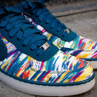 NIKE X Liberty Air Force 1 Downtown Low - Midnight Turquoise | Sneaker | Kith NYC