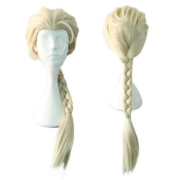 Cosplay Braided Ponytail Hair Synthetic Fibre of Hight-Temperature Cartoon Wigs Fluffy Long