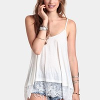 State Of Serenity Lace Tank