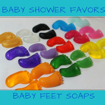 Baby Shower Favor - Baby Feet Soap for baby shower party favor or gender reveal party, It's a Boy, It's a Girl, Gender Neutral - 25 Pair