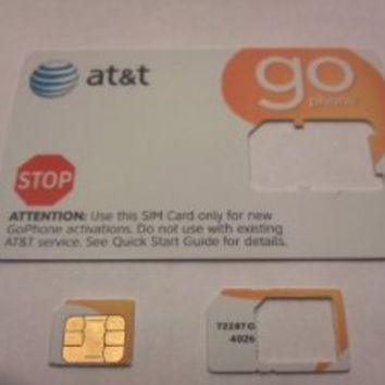 AT&T Go-Phone Prepaid Micro SIM Card for iPhone 4 and iPhone 4S