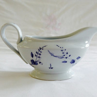 French Vintage Limoges Gravy Boat Sauce Boat Gravy Pitcher A La Brindille Chantilly