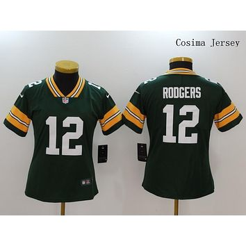 Danny Online Nike NFL Jersey Women's Vapor Untouchable Color Rush Green Bay Packers #12 Aaron Rodgers Football Jersey Green
