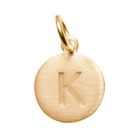 Matte Gold Letter K Initial Charm by Altruette - Room to Read