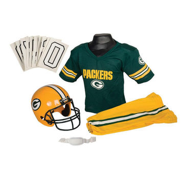 Green Bay Packers Youth NFL Deluxe Helmet and Uniform Set (Small)