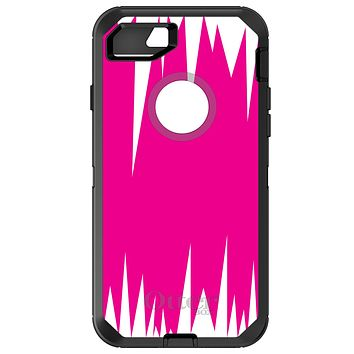 DistinctInk™ OtterBox Defender Series Case for Apple iPhone / Samsung Galaxy / Google Pixel - Neon Pink White Spikes