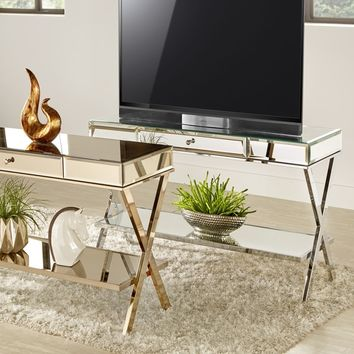 Omni X-Base Mirrored TV Stand with Drawer by INSPIRE Q | Overstock.com Shopping - The Best Deals on Entertainment Centers