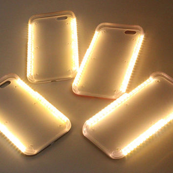 Hot LED Light selfie Phone Case for Iphone 5 5S SE 6 6s 6 Plus 6s Plus Case Light Selfie Led Cover 5 colors