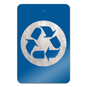 "Recycle Metal Sign 18"" x 12"""