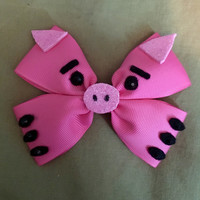 Toy Story Character Inspired Pink Hamm Disney Pixar Pig Hair Bow