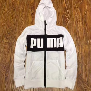 Puma Women Fashion Breathable Mesh Hooded Sports Jacket