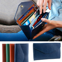 Lady Women Vintage PU leather Clutch Purses Clutch Wallet Bag Card Holder Coin Purse SV003739 = 1745595524